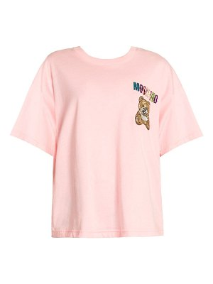 Moschino embellished bear logo t-shirt