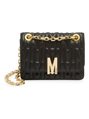 Moschino embossed leather shoulder bag