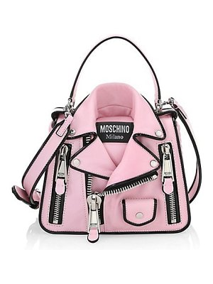 Moschino fantasy print leather shoulder bag