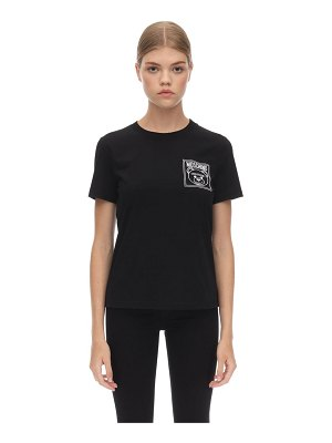 Moschino Fitted cotton jersey t-shirt
