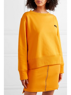 Moschino flocked cotton-jersey sweatshirt