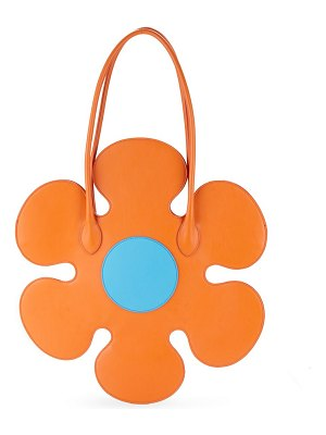 Moschino Flower Leather Shoulder Bag