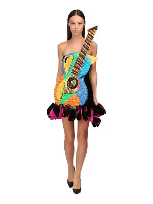 Moschino Guitar velvet mini dress