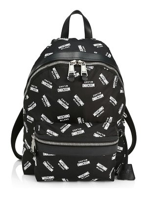 Moschino allover logo backpack