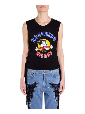 Moschino mickey mouse side-tie top