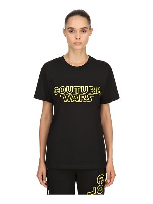Moschino Oversized couture wars jersey t-shirt