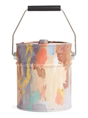 Moschino paint can leather bucket bag
