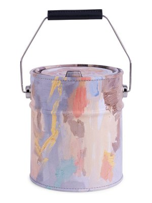 Moschino paint can leather clutch