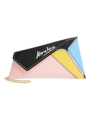 Moschino patchwork leather clutch