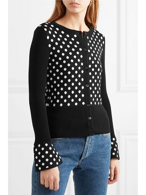 Moschino polka-dot wool cardigan