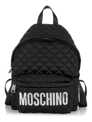 Moschino quilted logo backpack
