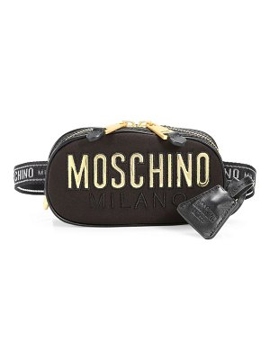 Moschino quilted logo fanny pack