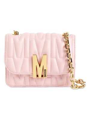Moschino Sm quilted leather shoulder bag