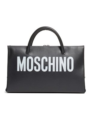 Moschino small calfskin leather shopper clutch