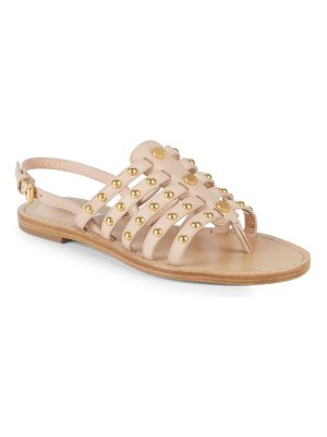 Moschino Studded Leather Gladiator Sandals