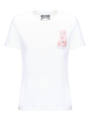 Moschino Teddy cake printed cotton jersey t-shirt