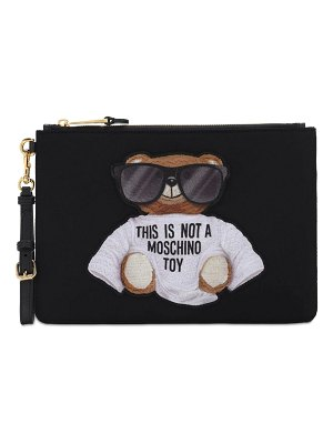 Moschino Teddy nylon clutch