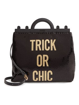 Moschino trick or chic sequin shoulder bag