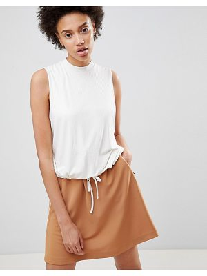 Moss Copenhagen sleeveless top with tie waist