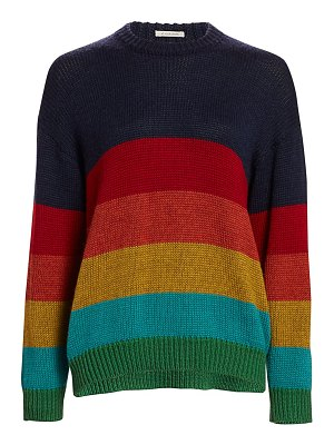 MOTHER colorblock wool knit sweater