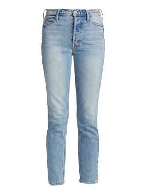 MOTHER the dazzler high-rise ankle straight-leg heart pocket jeans