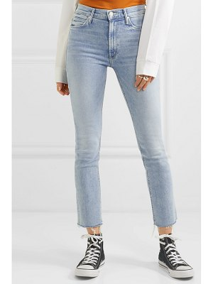 MOTHER the dazzler cropped distressed high-rise skinny-leg jeans