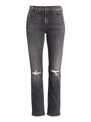 MOTHER the dazzler mid-rise ankle crop slim-fit distressed jeans