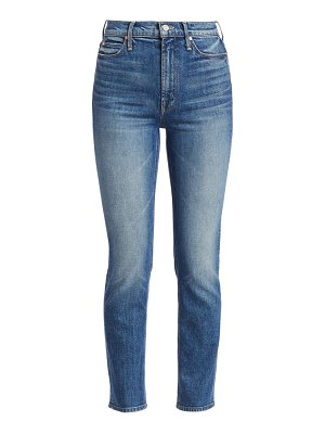 MOTHER dazzler high-rise crop straight-leg jeans