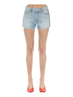 MOTHER Easy does it denim shorts w/ side bands