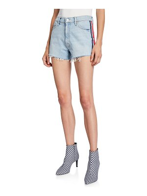 MOTHER Easy Does It Frayed Denim Shorts