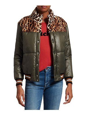 MOTHER faux fur puffer bomber jacket