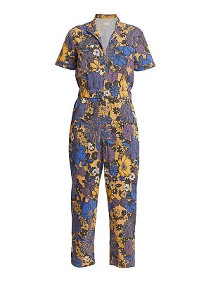 MOTHER floral zipply ankle jumpsuit