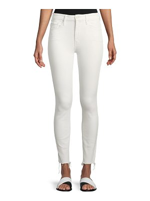 MOTHER High-Waist Skinny Looker Ankle-Fray Jeans