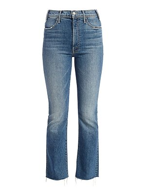 MOTHER hustler high-rise ankle fray cropped jeans