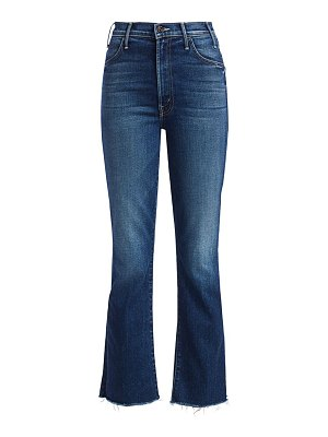 MOTHER hustler high-rise ankle frayed cropped jeans