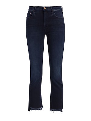 MOTHER insider high-rise fray cropped jeans
