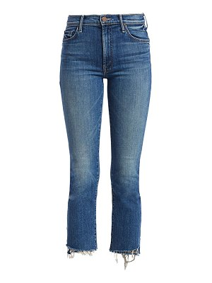 MOTHER insider high-rise step fray cropped jeans