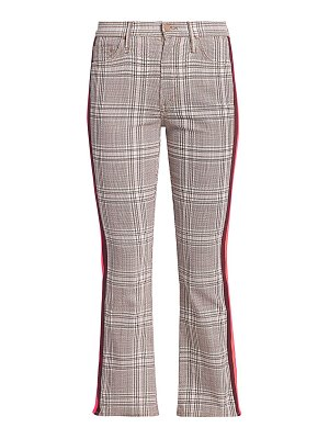 MOTHER insider plaid kick flare cropped pants