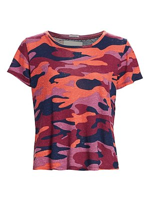 MOTHER itty bitty camo cropped t-shirt