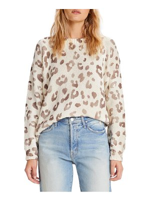 MOTHER leopard print cotton sweater