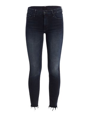 MOTHER looker high-rise frayed ankle jeans