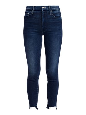 MOTHER the looker high-rise ankle skinny fray hem jeans