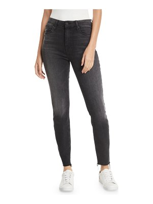 MOTHER Looker High-Waist Ankle Fray Skinny Jeans