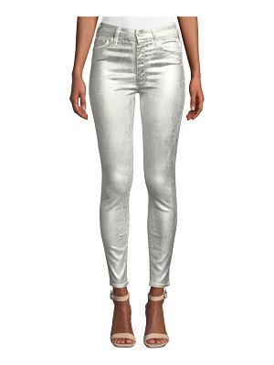 MOTHER Looker Metallic High-Waist Skinny Jeans