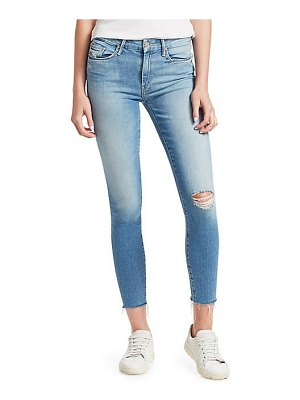 MOTHER looker mid-rise distressed ankle jeans