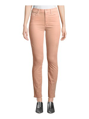 MOTHER Looker Velour High-Waist Skinny Ankle Jeans
