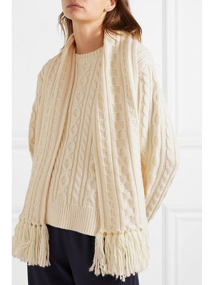Mother of Pearl cable-knit wool-blend sweater