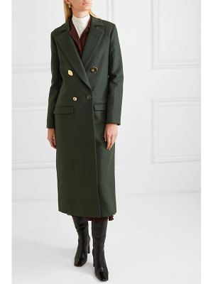 Mother of Pearl double-breasted wool and cashmere-blend coat