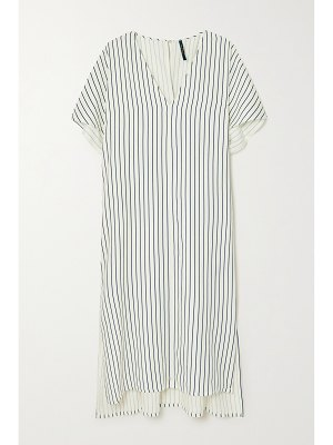 Mother of Pearl faith striped lyocell and linen-blend dress