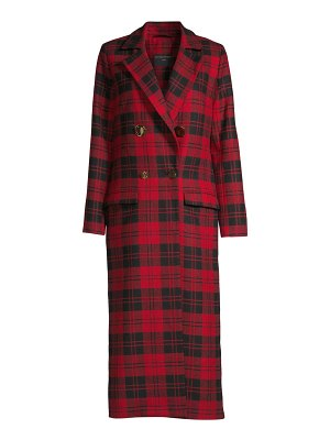 Mother of Pearl mable wool plaid coat